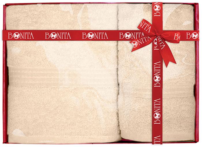 """Набор банных полотенец Bonita """"Classic"""" состоит из 2 махровых полотенец, выполненных из натурального 100% хлопка. Изделия отлично впитывают влагу, быстро сохнут, сохраняют яркость цвета и не теряют формы даже после многократных стирок. Размер: 70 х 140 см."""