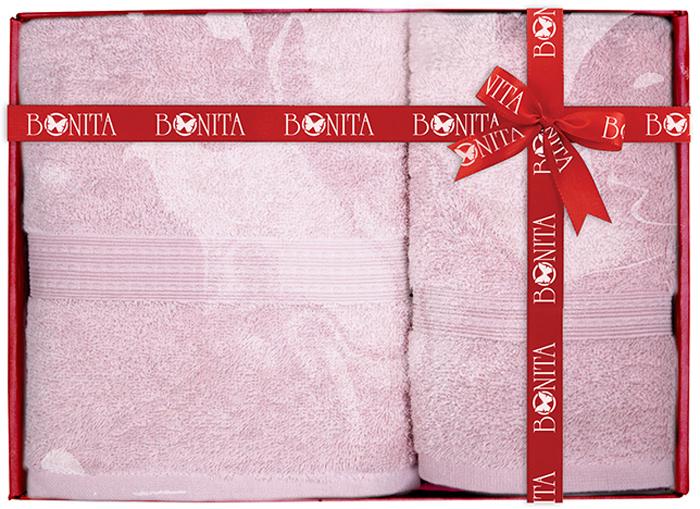 Набор банных полотенец Bonita Classic, цвет: светло-сиреневый, 70 х 140 см, 2 шт комплект из 2 х фартуков bonita дочки матери