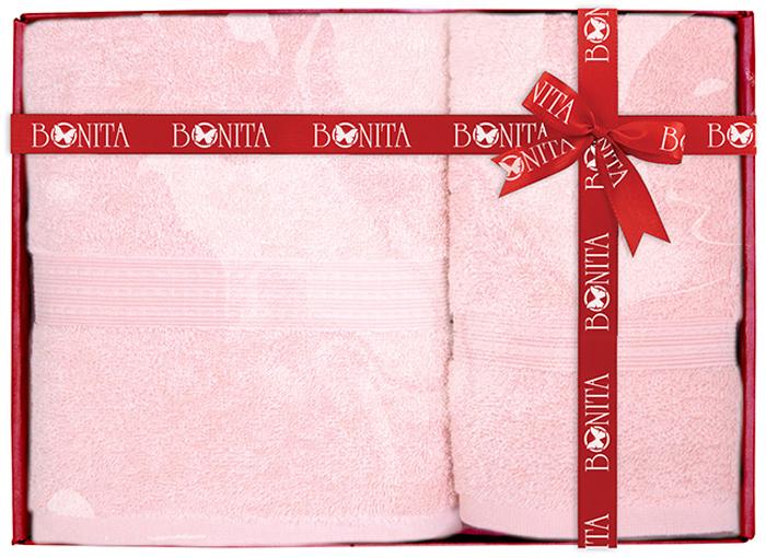 Набор банных полотенец Bonita Classic, цвет: розовый, 70 х 140 см, 2 шт