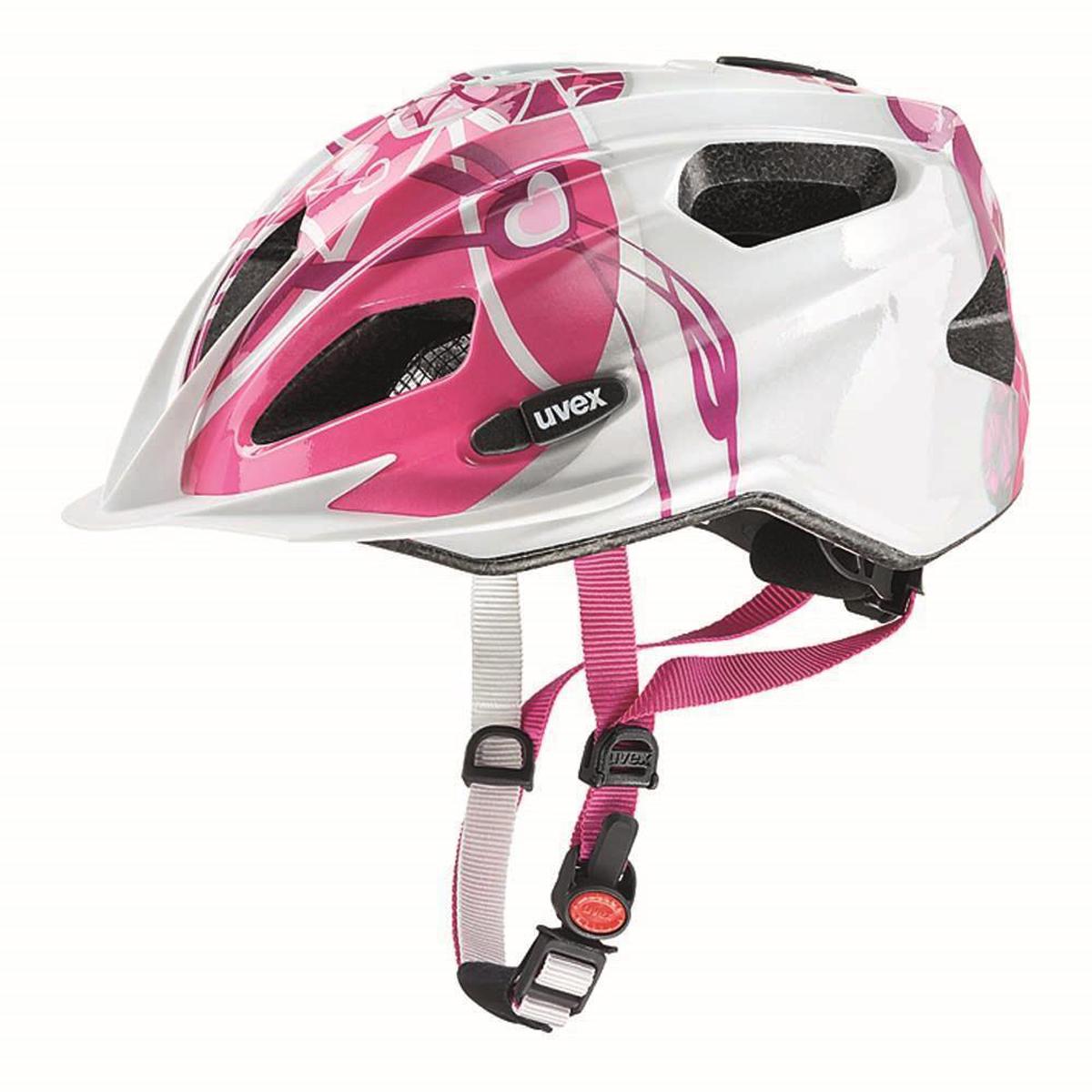 Шлем защитный Uvex Quatro Junior, цвет: розовый, серебристый. Размер XXXS-XS