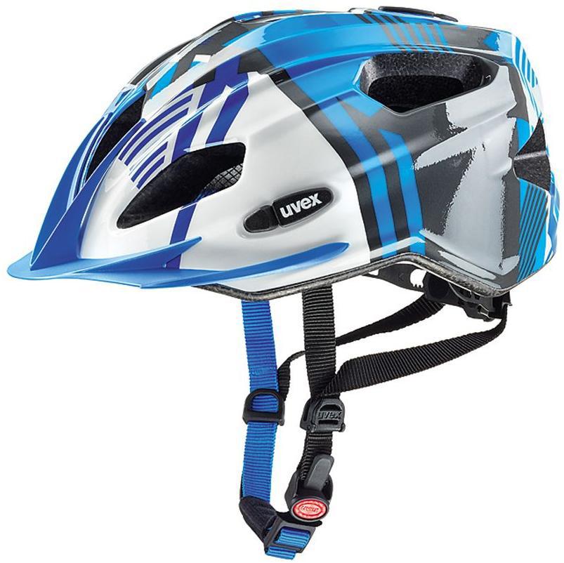 Шлем защитный Uvex Quatro Junior, цвет: синий, серебристый. Размер XXXS-XS