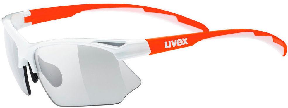 Велосипедные очки Uvex Sportstyle 802 V Small, цвет: белый, оранжевый очки горнолыжные uvex slider цвет белый