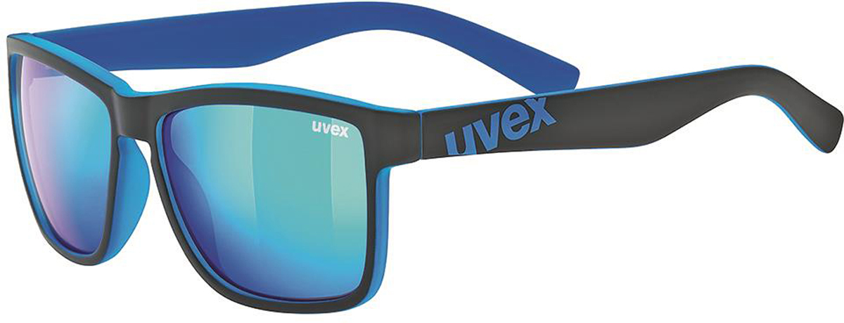 Велосипедные очки Uvex Lgl 39, цвет: черный, синий uvex yellow zengguang noctovision windproof ride goggles protective glasses
