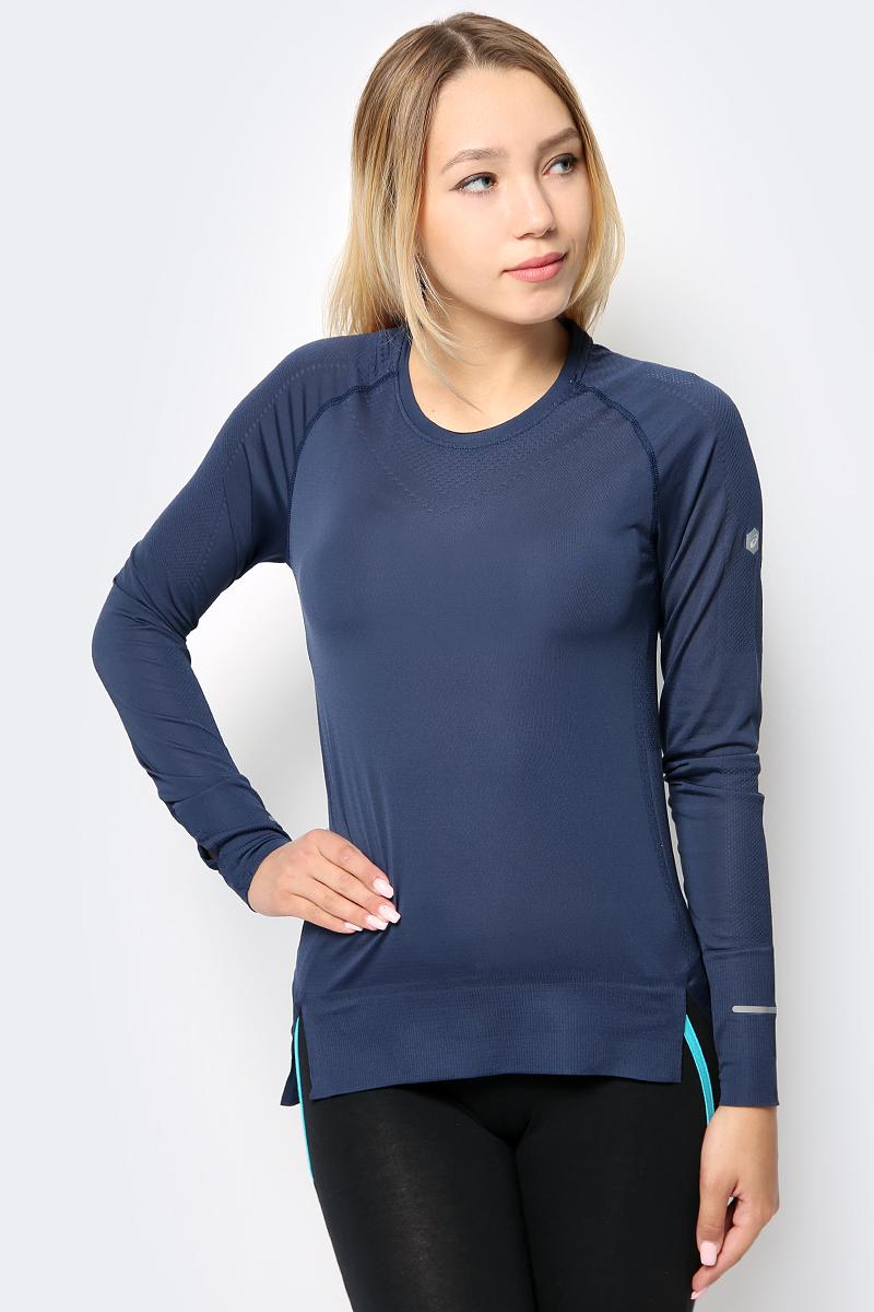 Лонгслив женский Asics Seamless Ls, цвет: темно-синий. 154545-0793. Размер XS (42) костюм спортивный женский asics sweater suit цвет серый 142917 0798 размер xs 40 42