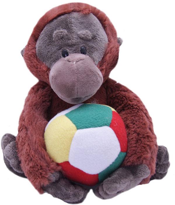 Magic Bear Toys Мягкая игрушка Горилла Игнат с мячом 22 см magic bear toys мягкая игрушка медведь с заплатками в шарфе цвет коричневый 120 см
