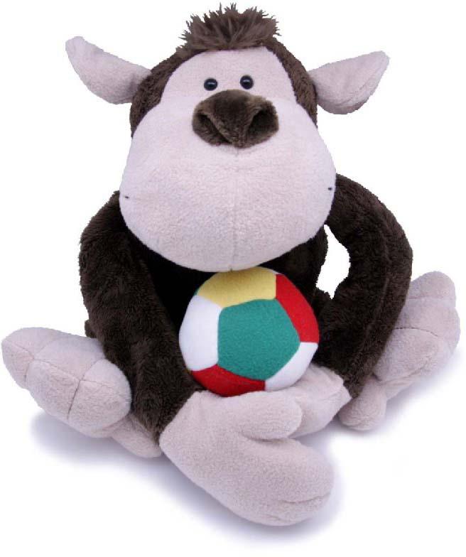 Magic Bear Toys Мягкая игрушка Обезьяна Михей с мячом 35 см magic bear toys мягкая игрушка медведь с заплатками в шарфе цвет коричневый 120 см