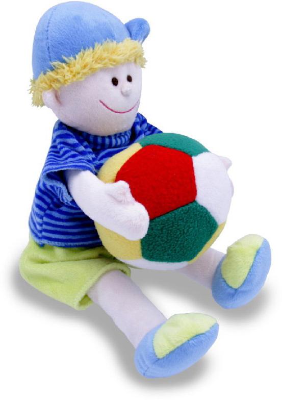 Magic Bear Toys Мягкая игрушка Мальчик с мячом 22 см magic bear toys мягкая игрушка медведь с заплатками в шарфе цвет коричневый 120 см