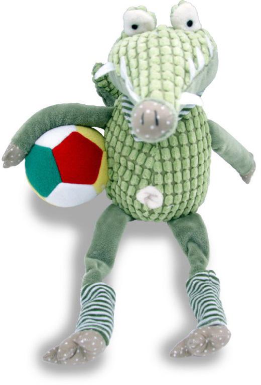 Magic Bear Toys Мягкая игрушка Зеленый крокодил Рэнди c мячом magic bear toys мягкая игрушка медведь с заплатками в шарфе цвет коричневый 120 см