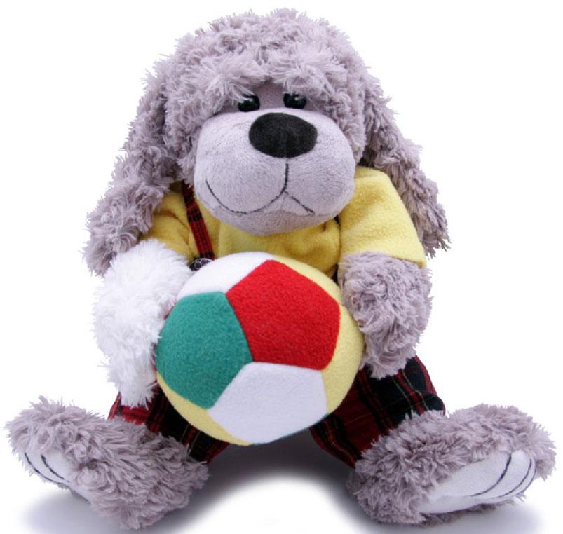 Magic Bear Toys Мягкая игрушка Собака Мальчик с мячом 23 см magic bear toys мягкая игрушка медведь с заплатками в шарфе цвет коричневый 120 см