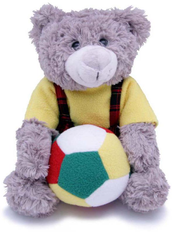 Magic Bear Toys Мягкая игрушка Мишка мальчик с мячом 23 см magic bear toys мягкая игрушка медведь с заплатками в шарфе цвет коричневый 120 см