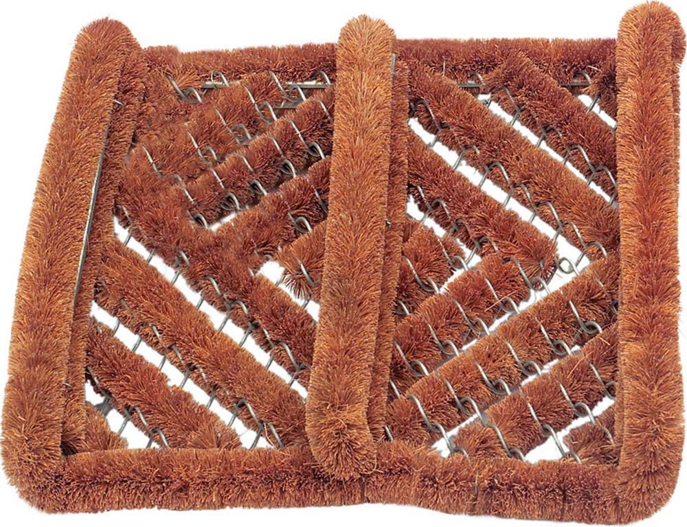 Коврик придверный Gardman Coir & Wire, 30 х 32 см82269Коврик из кокосового волокна с проволочным каркасом. Жесткие ворсинки идеально справляются с разного рода загрязнениями. Подходит только для уличного использования. Будучи хорошим абсорбентом, волокно из кокоса хорошо впитывает жидкость, что гарантирует чистоту и порядок дома. Пористая структура волокна быстро поглощает воду даже в сухом состоянии и не так быстро насыщается жидкостью, как другие материалы.