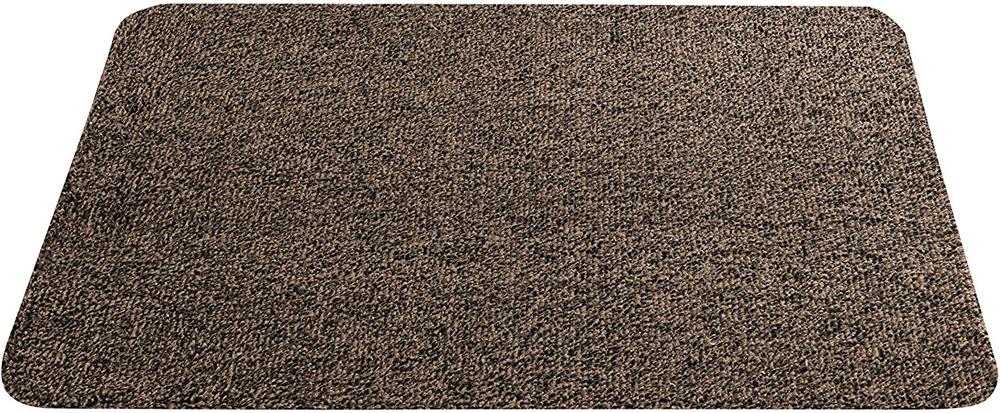 Придверный коврик, сделанный из хлопка. Очень мягкий и впитывающий материал смешан со специальными волокнами, которые позволяют захватывать и удерживать частички грязи. Обратная сторона коврика сделана из резины, поэтому не будет скользить по полу. Есть небольшой крючок для удобного хранения. В качестве ухода за ковриком рекомендуется машинная стирка при температуре 30°C. Подходит только для домашнего использования.