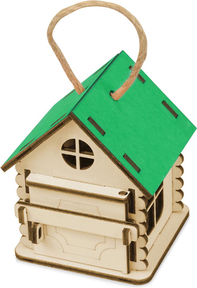 Упаковка-домик подарочная Пересвет, цвет: зеленый, 8,6 х 7 х 7 см