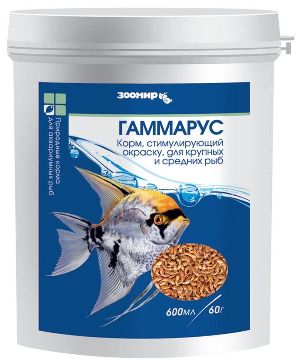 """Корм сухой Зоомир """"Гаммарус"""", природный, для рыб, рептилий, земноводных, 60 г"""