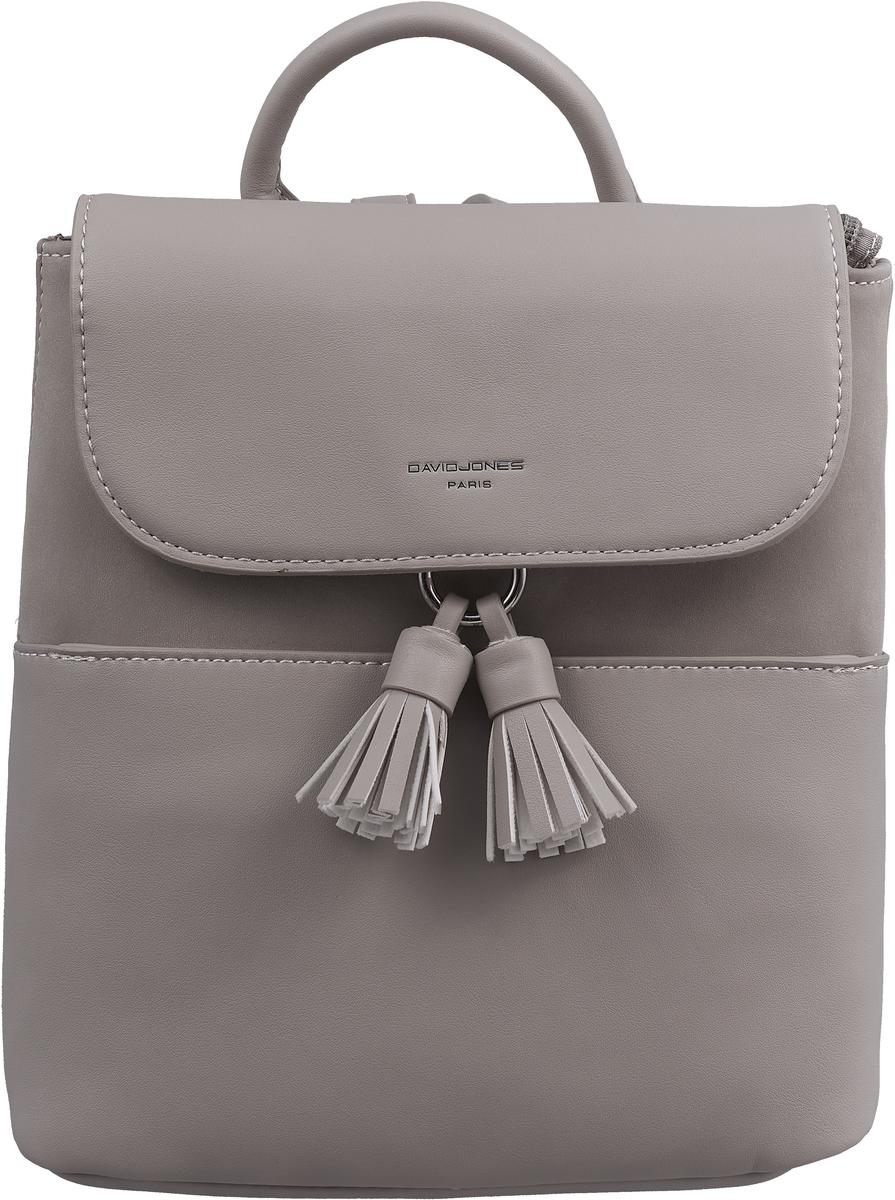 Рюкзак женский David Jones, цвет: серый. CM3702 L.GREY рюкзак david jones david jones da919bwbkev7
