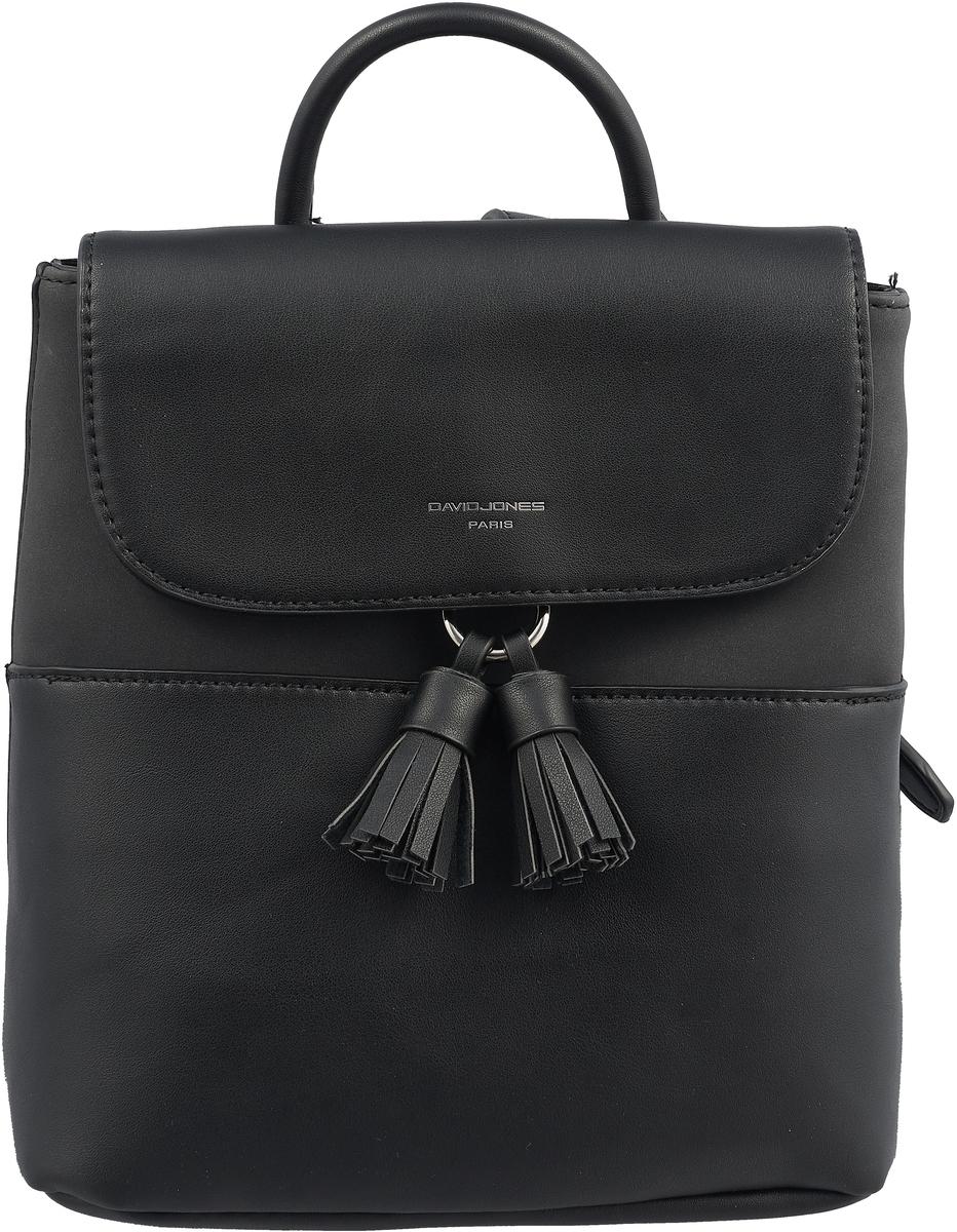 Рюкзак женский David Jones, цвет: черный. CM3702 BLACK рюкзак david jones david jones da919bwzgc26