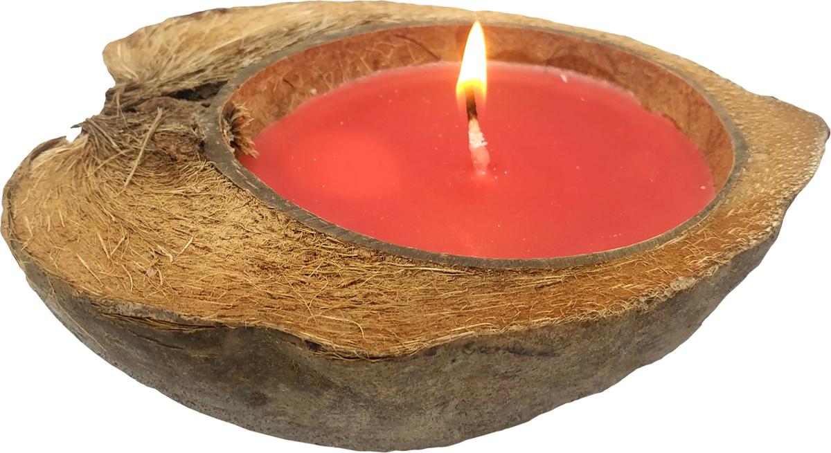 Свеча ароматизированная Gift'n'Home Coco-Корица, цвет: красный, высота 7 см свеча ароматизированная bolsius ландыш высота 6 3 см