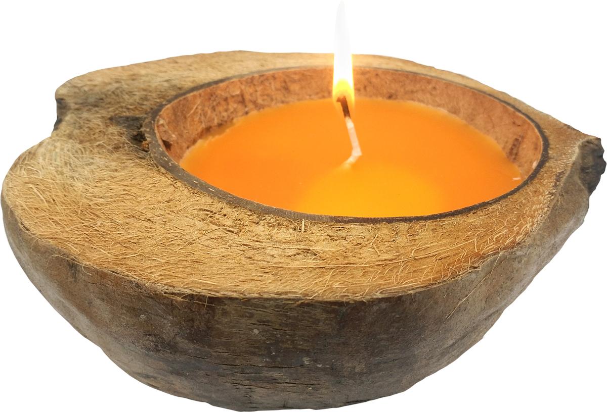 Свеча ароматизированная Gift'n'Home Coco-Персик, защита от комаров, цвет: желтый, высота 7 см свеча ароматизированная bolsius ландыш высота 6 3 см