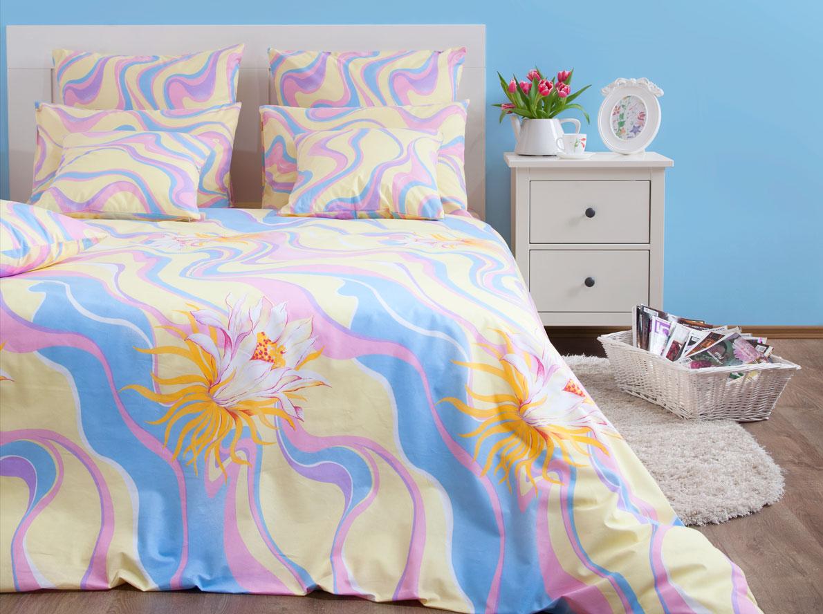 Комплект постельного белья Хлопковый Край Элегия, евро, наволочки 50x70, 70x70