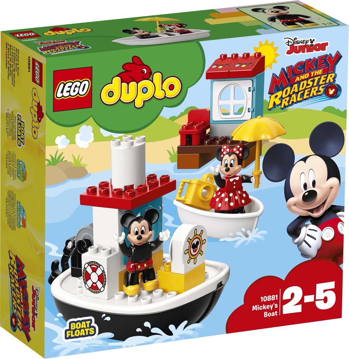 LEGO DUPLO Disney Конструктор Катер Микки 10881 disney аппликация пайетками самой модной минни маус