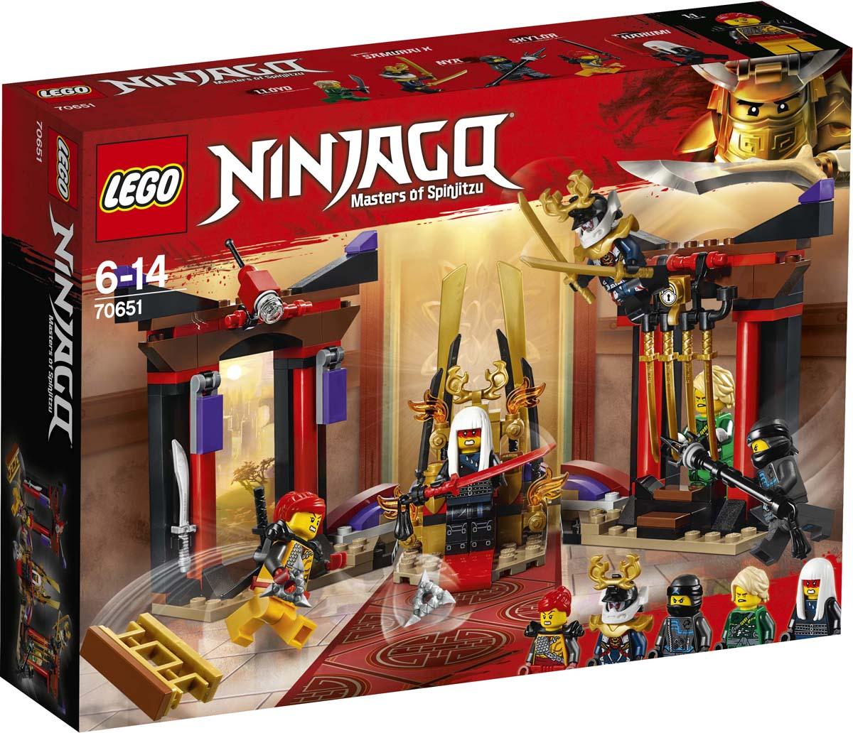 LEGO Ninjago Конструктор Решающий бой в тронном зале 70651 lego lego конструктор lego ninjago 70651 решающий бой в тронном зале