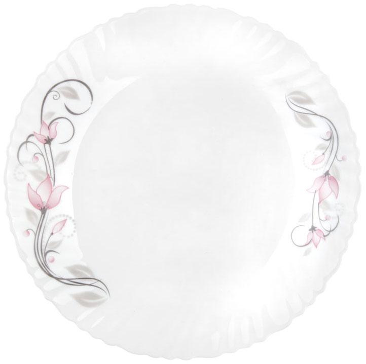 """Тарелка обеденная Miolla """"Натали"""" изготовлена из стеклокерамики и подходит для повседневного использования. Такая тарелка изысканно украсит сервировку как обеденного, так и праздничного стола.  Всегда актуальный дизайн подойдет для любого случая: и для обеда с друзьями, и для праздничного застолья.  Можно нагревать в микроволновой печи и мыть в посудомоечной машине."""