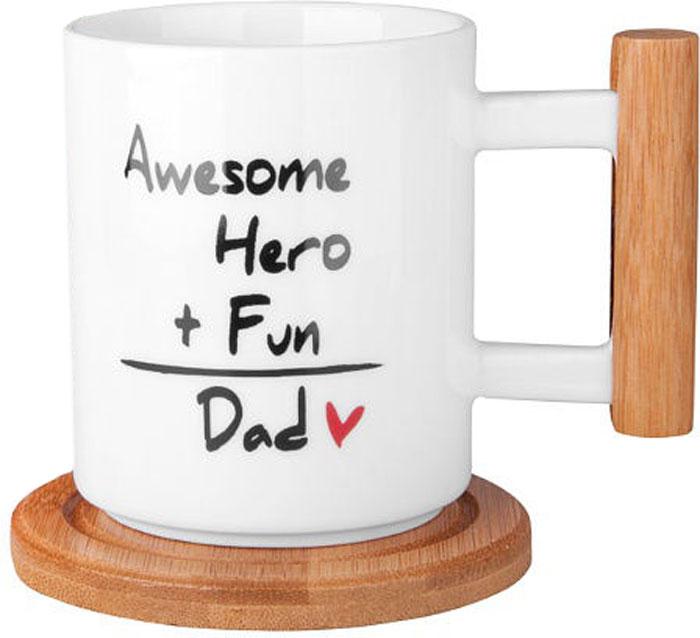 Кружка для лучшего, героичного, смешного папы на свете AWESOME HERO + FUN - DAD от EcoWoo - это подарок не только для папы, но и папы самому себе! Home is where your Dad is - Дом там, где папа. Ведь процесс воспитания нового поколения - это увлекательнейший процесс, и внести немного fun - это один из шагов.Не рекомендуется использовать в посудомоечной машине.Не использовать в посудомоечной машине, в СВЧ, в духовке и на открытом огне.