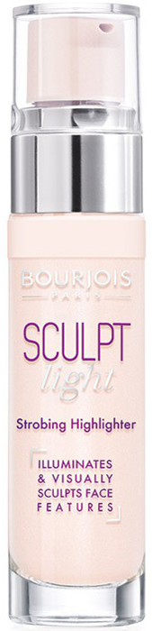 Bourjois Хайлайтер для лица Sculpt Highlighter тон light strobing светлый, 15 мл isadora жидкий хайлайтер флюид strobing fluid highlighter 80 35мл