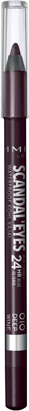 Rimmel Карандаш для глаз Scandal`eyes Waterproof Kohl Kajal тон 010, 6 г карандаш для глаз rimmel soft kohl kajal тон 011 контурный