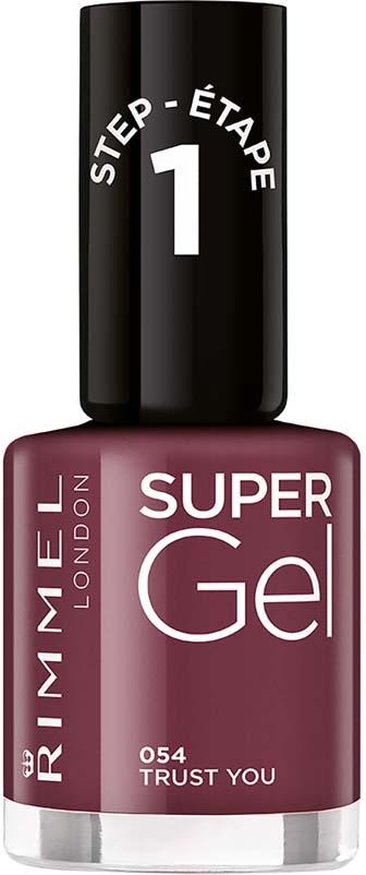 Rimmel Super Gel Гель-лак для ногтей тон 054, 12 мл набор для ногтей rimmel super gel цветной гелевый лак тон 041 darling dahlia верхнее покрытие top coat