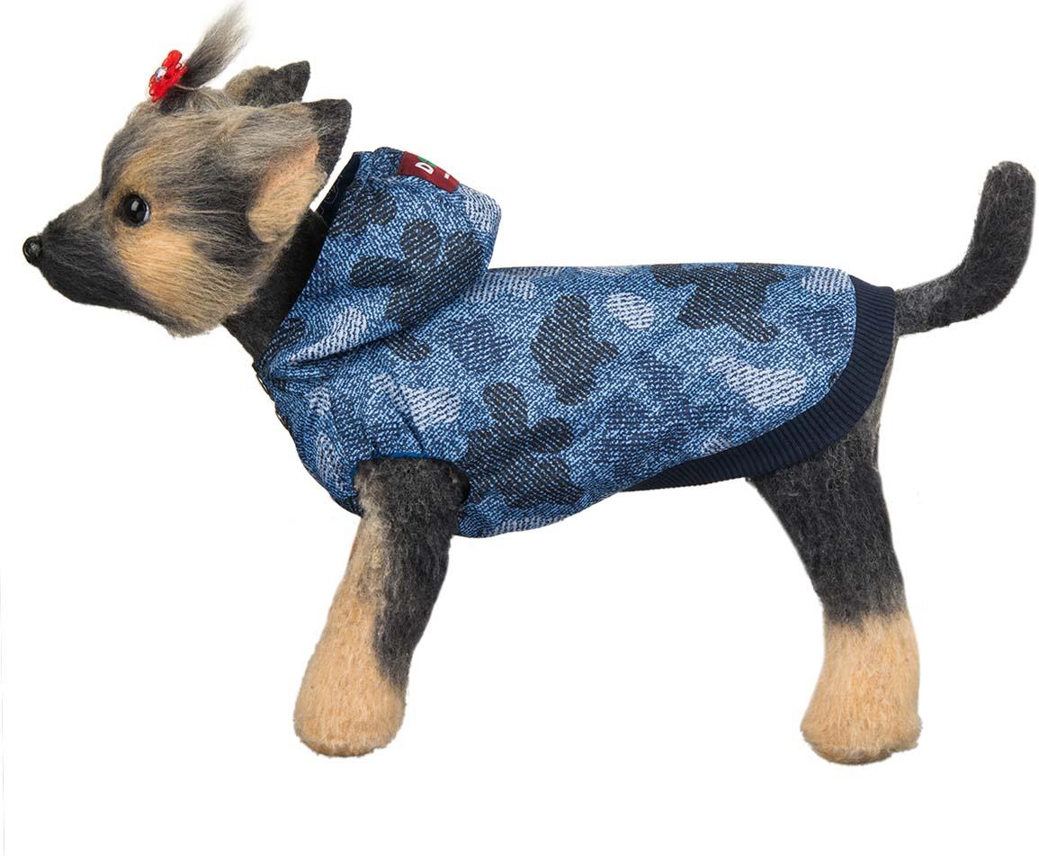 Ветровка для собак Dogmoda Мегаполис, унисекс, цвет: синий. Размер XL догмода футболка с капюшоном для собак dogmoda 1