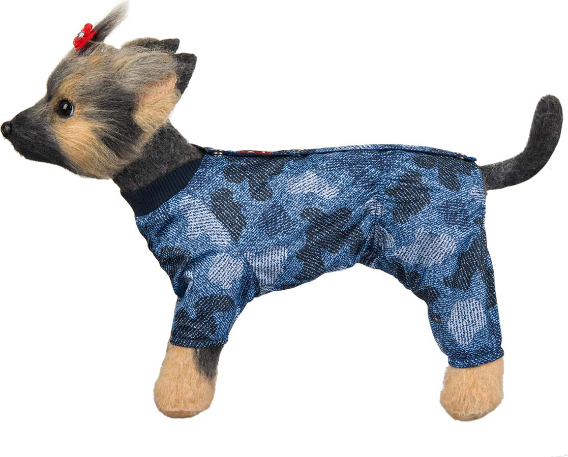 Комбинезон для собак Dogmoda Мегаполис, унисекс, цвет: синий. Размер XXL