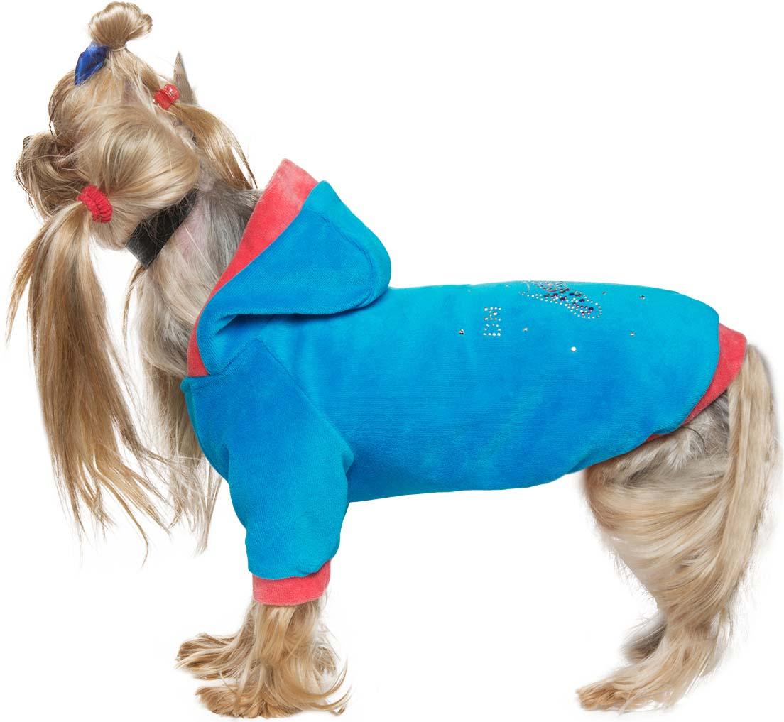Куртка велюровая для собак Dogmoda Dog, унисекс. Размер XL догмода футболка с капюшоном для собак dogmoda 1
