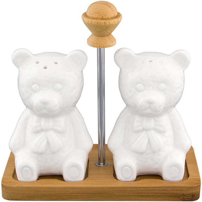 Набор для специй Elan Gallery Медвежата, на подставке, 3 предмета набор для специй elan gallery медвежата на подставке 2 предмета