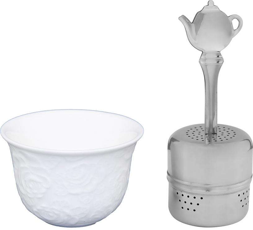 """Набор для заварки чая Elan Gallery """"Белые розы"""" изготовленный из высококачественной керамики прекрасно дополнит интерьер вашей кухни. А также станет отличным подарком вашим друзьям и близким."""