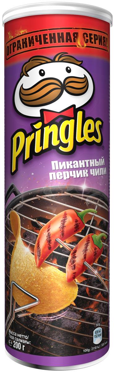 Pringles Картофельные чипсы со вкусом пикантного перчика чили, 200 г pringles original картофельные чипсы 70 г