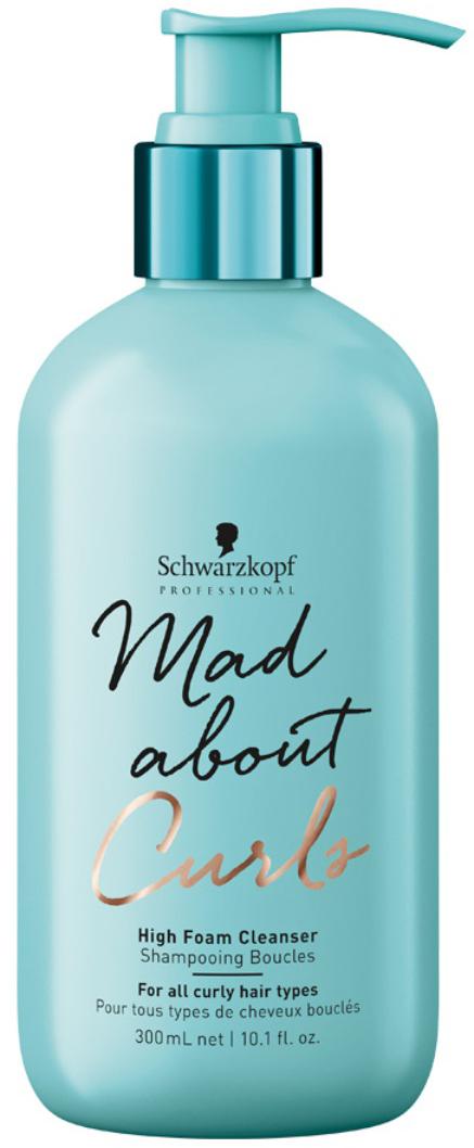 Schwarzkopf Professional Крем-шампунь очищающий для тонких, нормальных и жестких волос Mad About Curls, 300 мл schwarzkopf сухой шампунь для тонких нормальных и жестких волос mad about waves 150 мл