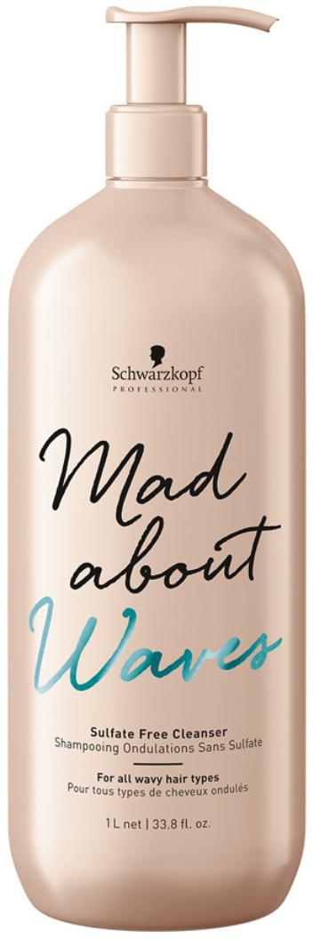 Schwarzkopf Professional Крем бессульфатный очищающий для тонких, нормальных и жестких волос Mad About Waves, 1000 мл schwarzkopf сухой шампунь для тонких нормальных и жестких волос mad about waves 150 мл