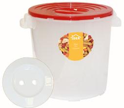"""Бак для соления """"Idea"""" предназначен для соления огурцов, капусты, томатов, рыбы, грибов. Укомплектован гнетом и надежно крепящийся крышкой. Прочность и конструкция крышки позволяют ставить баки один на другой. Объем: 13 л."""