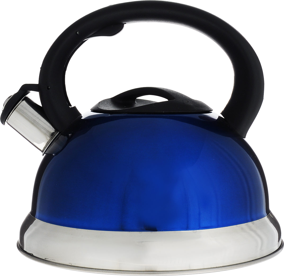 Чайник Bohmann, со свистком, цвет: синий, 3,5 л чайник bohmann со свистком цвет оранжевый 3 л bh 9957