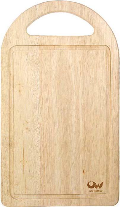 """Прямоугольная разделочная доска """"Oriental way"""" с ручкой изготовлена из высококачественной древесины гевеи. Доска имеет углубление для стока жидкости вдоль края. Прекрасно подходит для приготовления и сервировки пищи.Особенности разделочной доски """"Oriental way"""":   высокое качество шлифовки поверхности изделий,   двухслойное покрытие пищевым лаком, безопасным для здоровья человека,   степень влажность 8-10%, не трескается и не рассыхается,   высокая плотность структуры древесины,   устойчива к механическим воздействиям,   не предназначена для мытья в посудомоечной машине.  Характеристики: Материал: дерево. Размер: 40,5 см х 23 см х 2 см. Производитель: Тайланд. Артикул: 9/666. Торговая марка """"Oriental way"""" известна на рынке с 1996 года. Эта марка объединяет товары для кухни, изготовленные из дерева и других материалов. Все товары марки """"Oriental way"""" являются безопасными для здоровья, экологичными, прочными и долговечными в использовании."""