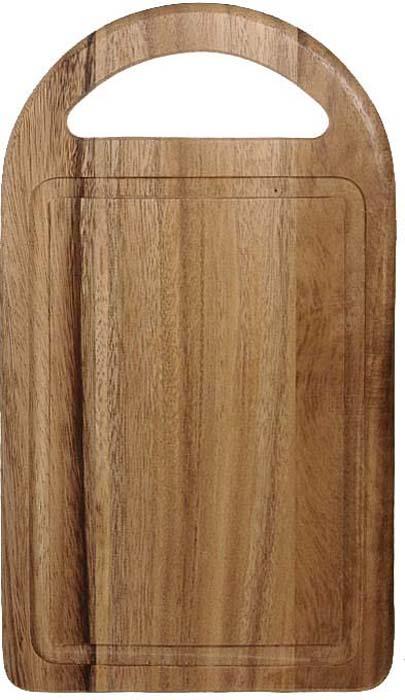 """Прямоугольная разделочная доска """"Oriental way"""" тонированная, с ручкой изготовлена из высококачественной древесины гевеи. Доска имеет углубление для стока жидкости вдоль края. Прекрасно подходит для приготовления и сервировки пищи.Особенности разделочной доски """"Oriental way"""":   высокое качество шлифовки поверхности изделий,   двухслойное покрытие пищевым лаком, безопасным для здоровья человека,   степень влажность 8-10%, не трескается и не рассыхается,   высокая плотность структуры древесины,   устойчива к механическим воздействиям,   не предназначена для мытья в посудомоечной машине.  Характеристики: Материал: дерево. Размер: 35 см х 19,5 см х 1,5 см. Производитель: Тайланд. Артикул: 9/884. Торговая марка """"Oriental way"""" известна на рынке с 1996 года. Эта марка объединяет товары для кухни, изготовленные из дерева и других материалов. Все товары марки """"Oriental way"""" являются безопасными для здоровья, экологичными, прочными и долговечными в использовании."""