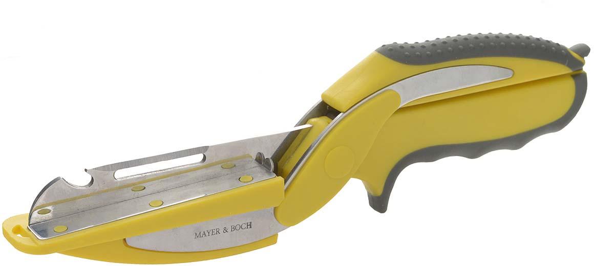 """Ножницы """"Mayer & Boch"""" изготовлены из высококачественной нержавеющей стали   и оснащены пружинным механизмом с безопасным замком. Ножницы снабжены   удобными пластиковыми ручками с прорезиненными вставками. Изделие прекрасно подойдет для   нарезки и измельчения мяса и птицы.Практичные и удобные ножницы """"Mayer & Boch"""" займут достойное место среди аксессуаров на   вашей кухне. Можно мыть в посудомоечной машине.   Длина ножниц: 25 см. Длина лезвия: 10 см."""