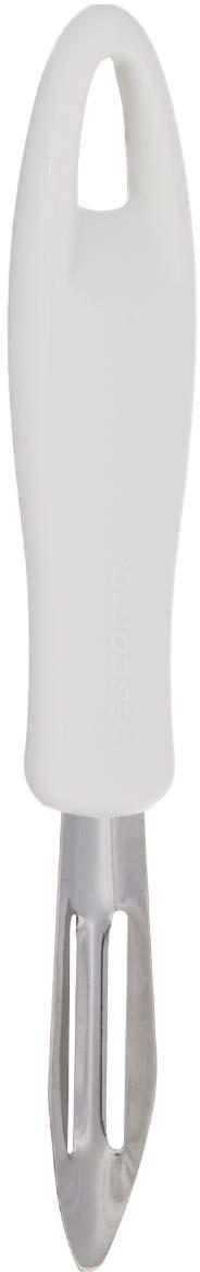 """Овощечистка Tescoma """"Presto"""" изготовлена из нержавеющей стали и оснащена  удобной пластиковой ручкой. Изделие отлично подходит для очистки овощей и  фруктов от кожуры. Ручка овощечистки снабжена специальным отверстием для  подвешивания. Практичная и удобная овощечистка Tescoma """"Presto"""" займет достойное место  среди аксессуаров на вашей кухне. Можно мыть в посудомоечной машине."""
