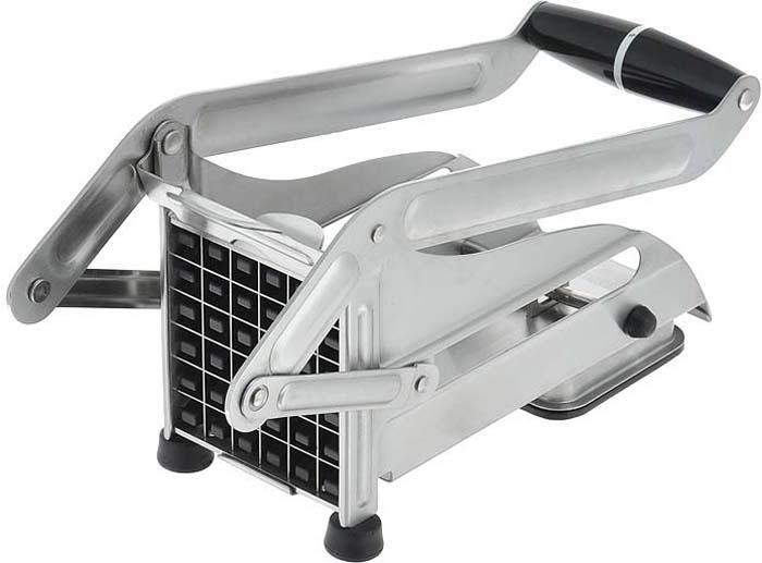 """Машинка для нарезки картофеля """"Gefu"""" изготовлена из высококачественного пластика и нержавеющей стали. Блок ножей обеспечивает нарезание 36 стержней размером 1,2 см х 1,2 см. Специальное вакуумное устройство обеспечивает закрепление прибора на гладкой поверхности. Блок ножей легко снимает для очистки. Можно мыть в посудомоечной машине.   Характеристики: Материал: сталь, пластик. Размер: 25 см х 9,5 см х 12,5 см. Производитель: Германия. Артикул: 13750."""