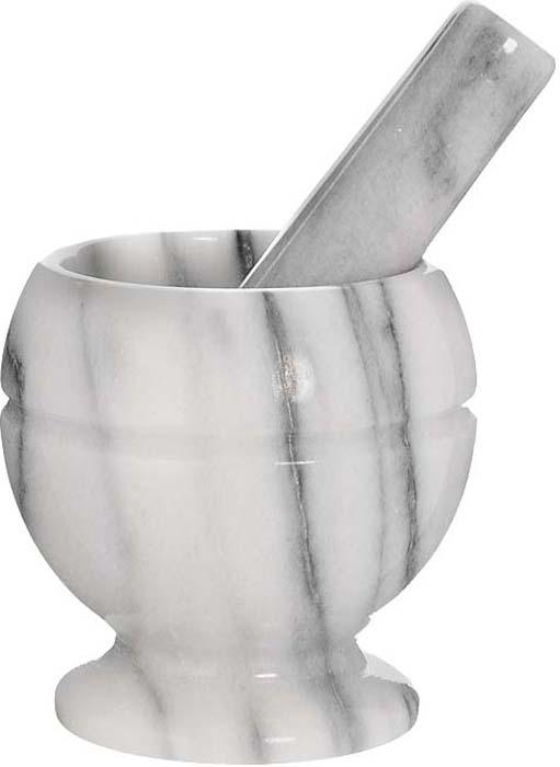 """Ступка """"Premier Housewares"""" с пестиком станет незаменимой вещью для  приготовления свежих специй и приправ, измельчения трав, таблеток.  Ступка и пестик изготовлены из цельного куска мрамора. Для эффективного  размельчения внутренняя поверхность ступки и рабочая часть пестика  шероховатая, все остальное покрыто глазурью. Со ступкой """"Premier Housewares""""  специи в ваших блюдах будут всегда свежими и ароматными.   Диаметр  ступки по верхнему краю: 7,5 см.  Высота ступки: 10,5 см.  Длина пестика:  12,5 см."""