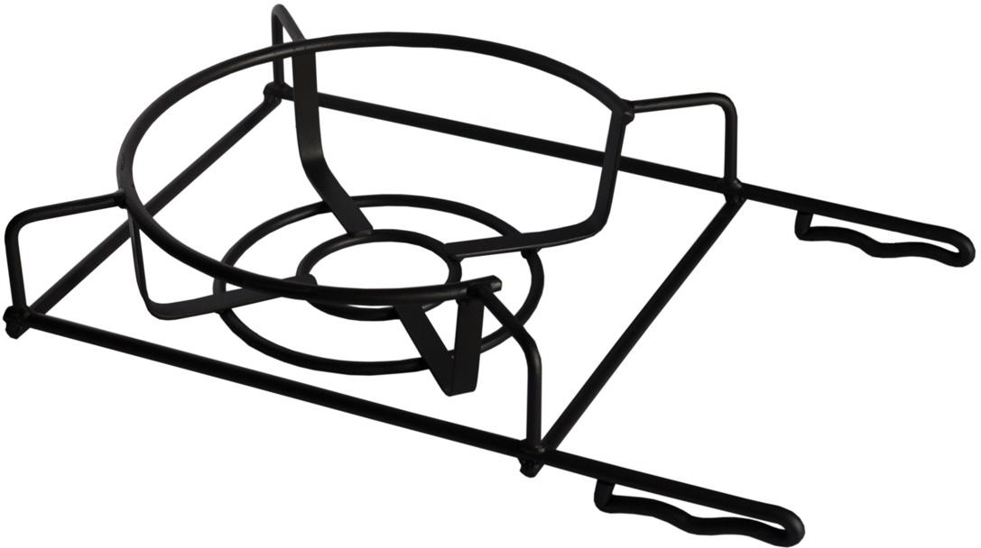 Универсальная кованая подставка под казан позволит вам приготовить блюда на мангале, также кастрюле или сковороде.