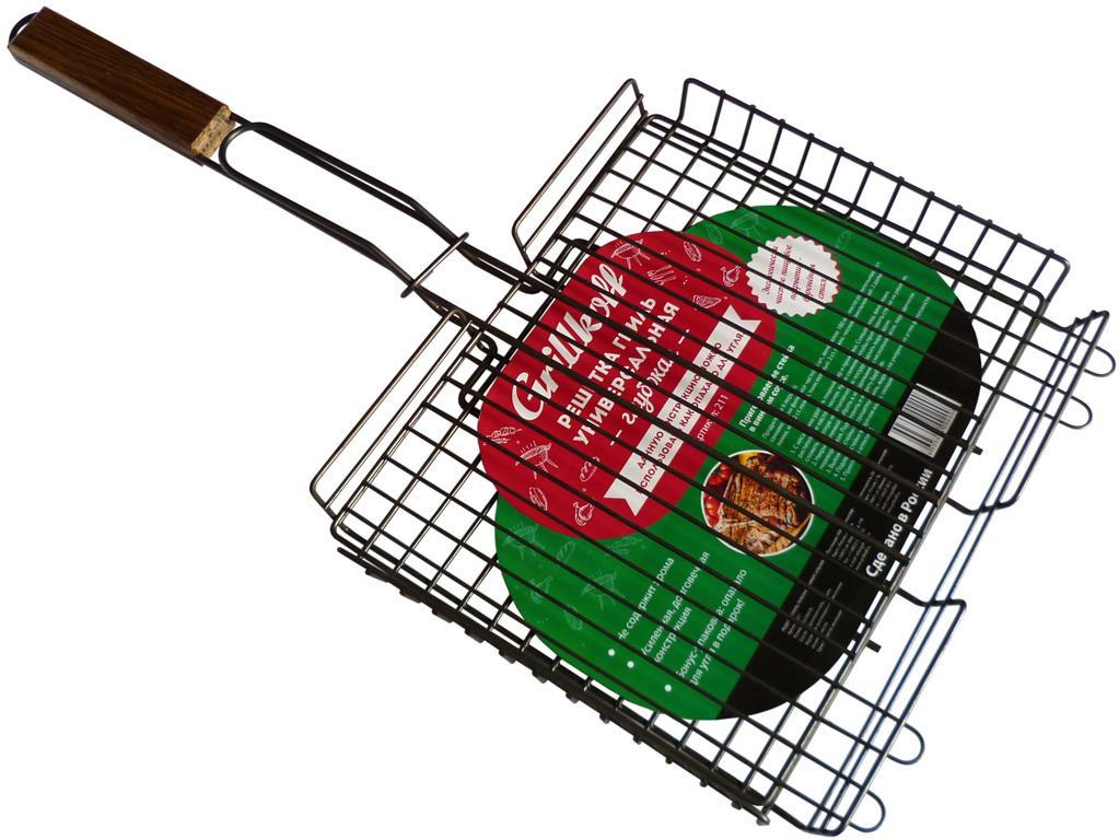 """Решетка глубокая """"Grillkoff"""".• Экологически чистое покрытие – воронение, выполненное с применением льняного масла.• Не содержит хрома и никеля.• Усиленная конструкция – вес 680 г.• Удобные """"петли"""" для размещения решетки на мангале.• Оптимальный размер рабочей поверхности.• Бонус-упаковка: опахало для угля в подарок.• Удобство в перевозке и эксплуатации.Состав - стальная проволока.Ручки - 5 мм, корпус решетки - 3 мм, обрешетка - 2,5 мм."""