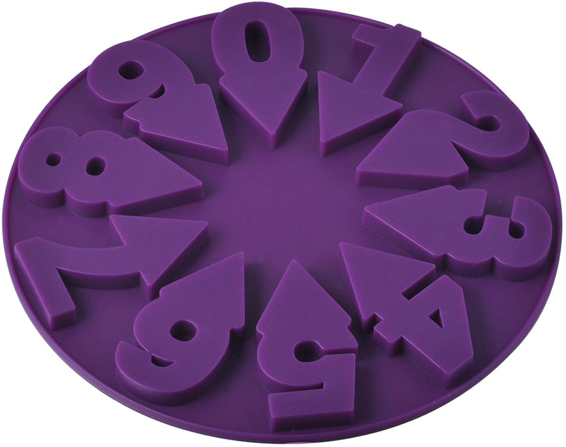 """Форма для выпечки Regent Inox """"Цифры"""" сделана из силикона, который выдерживает температуру от -40° С до +230° С. К форме не прилипает   тесто за счет естественной антипригарности, а ее пластичность позволяет легко извлечь готовый продукт. Необычный дизайн этого кухонного   аксессуара в виде циферблата и звезды по центру не оставит равнодушным ни одного вашего гостя.  В такой форме Ваш праздничный пирог будет самым необычным и вкусным. ее можно заполнять как целиком, так и только цифры. Форму можно мыть и сушить в посудомоечной машине.      Как выбрать форму для выпечки – статья на OZON Гид."""