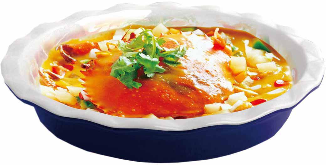 """Форма для выпечки """"Bohmann"""" подходит для использования в микроволновой, конвекционной печи и духовке. Подходит для хранения продуктов в холодильнике и морозильной камере. Можно мыть в посудомоечной машине. Устойчивая к образованию пятен и не пропускающая запах.  В такой форме можно запечь вкусный обед или ужин, и сразу же не перекладывая на другую тарелку поставить на стол. Нагрев до температуры 220° С .  Размер: диаметр - 28,5 см  Высота стенки - 5,3 см.   Как выбрать форму для выпечки – статья на OZON Гид."""